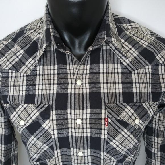 3668e177 Levi's Shirts | Levis Long Sleeve Pearl Snap Shirt | Poshmark